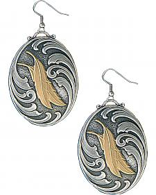 Montana Silversmiths Two Feathers Native Spirit Earrings