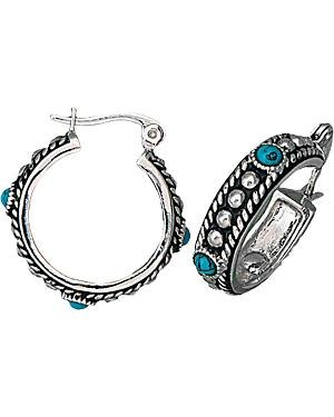 Montana Silversmiths Faux Turquoise Small Hoop Earrings