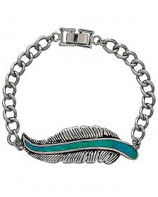 Montana Silversmiths Feather Chain Bracelet