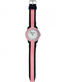 Montana Silversmiths Brown & Pink Silicone Watch