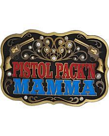Montana Silversmiths Pistol Pack'n Mamma Belt Buckle