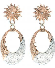Montana Silversmiths Rose Gold Bitterroot Filigree Earrings