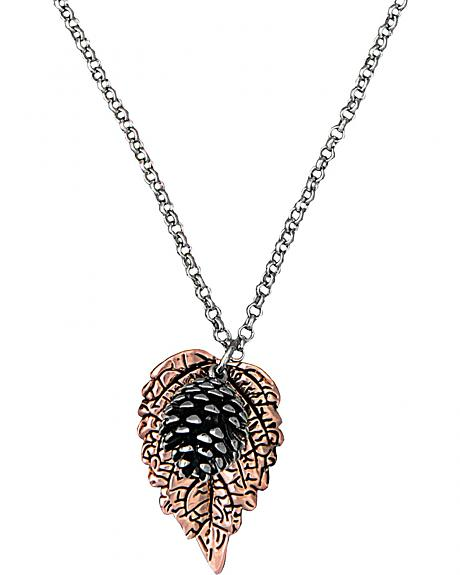 Montana Silversmiths Leaf & Pine Cone Charm Necklace
