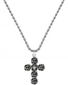 Montana Silversmiths Rose-arie Cross Necklace