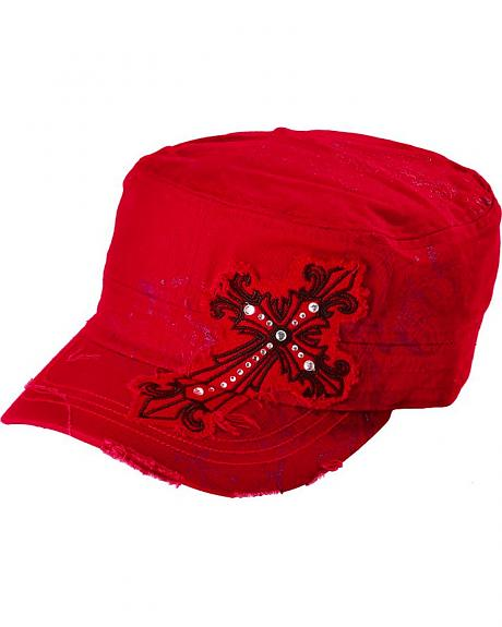 Embellished Cross Patch Casual Cap