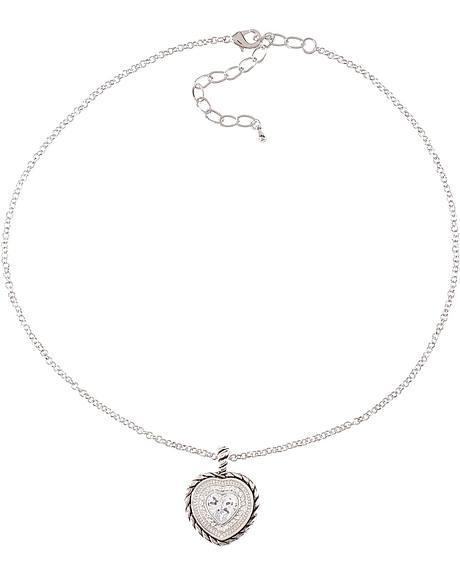 Montana Silversmiths Heart Charm Necklace