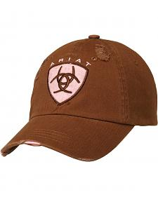 Ariat Brown Logo Patch Casual Cap