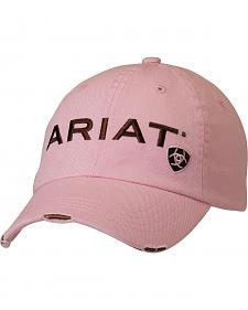 Ariat Pink Logo Patch Casual Cap