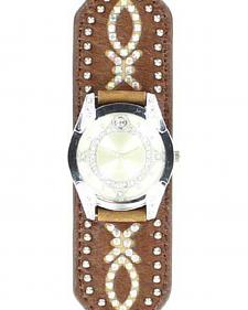 Blazin Roxx Tapered Rhinestone Bedecked Watch