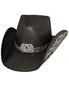 Bullhide Cowgirl Fantasy Black Straw Cowgirl Hat