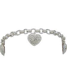 Montana Silversmiths Puffy Pave Heart Bracelet