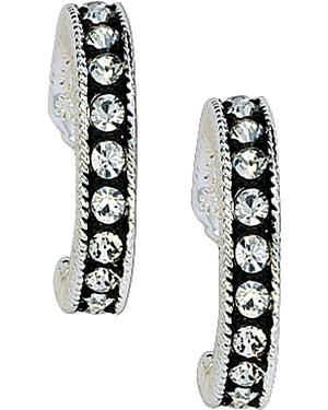 Montana Silversmiths Cubic Zirconia Hoop Earrings