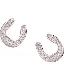 Montana Silversmiths Tilted Horseshoe Earrings
