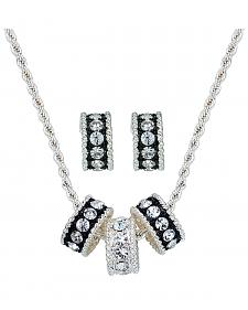 Montana Silversmiths Triple Rings Necklace & Earrings Set