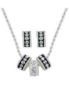 Montana Silversmiths Triple Rings Necklace & Earrings Set