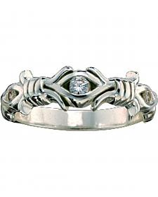 Montana Silversmiths Barbed Wire Solitaire Ring - Size 7