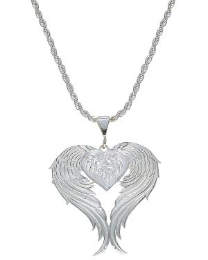 Montana Silversmiths Silver Winged Heart Necklace