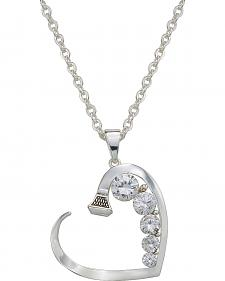 Montana Silversmiths Rhinestone Heart Horseshoe Nail Necklace