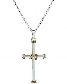 Montana Silversmiths Roped Cross Charm Necklace