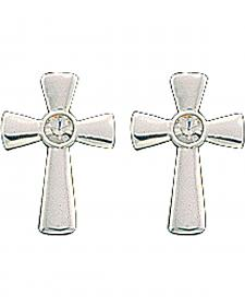 Montana Silversmiths Rhinestone Cross Earrings