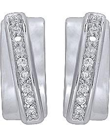 Montana Silversmiths Cubic Zirconia Cuff Hoop Earrings