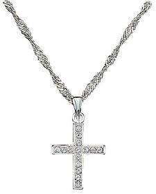 Montana Silversmiths Rhinestone Cross Pendant Necklace
