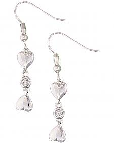 Montana Silversmiths Double Heart Earrings