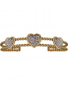 Montana Silversmiths Twisted Rope Heart Bracelet