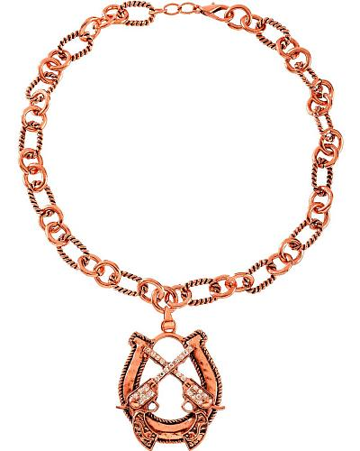 Horseshoe with Crossed Pistols Necklace Western & Country N13070710