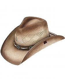 Peter Grimm Shaggy Straw Cowgirl Hat