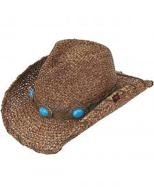 Peter Grimm Raven Straw Cowgirl Hat