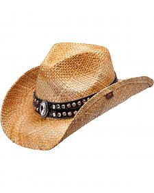 Peter Grimm Fuller Bling Marquis Straw Cowgirl Hat