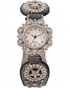 Fancy Metallic Concho Watch