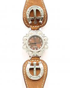 Fancy Horseshoe & Cross Concho Watch