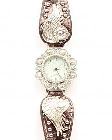 Bedecked Heart & Wing Concho Watch