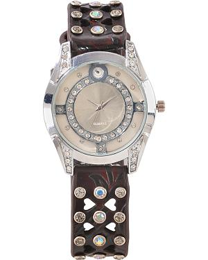 Fancy Heart Cutouts & Rhinestone Watch