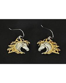 Lightning Ride Horse Head Earrings