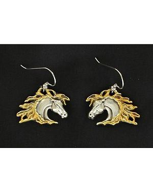 Lightning Ride Horse Head Earrings
