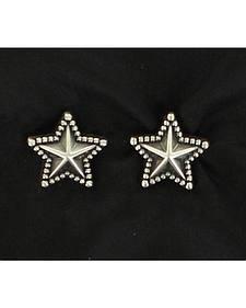 Lightning Ride Beaded Edge Star Earrings