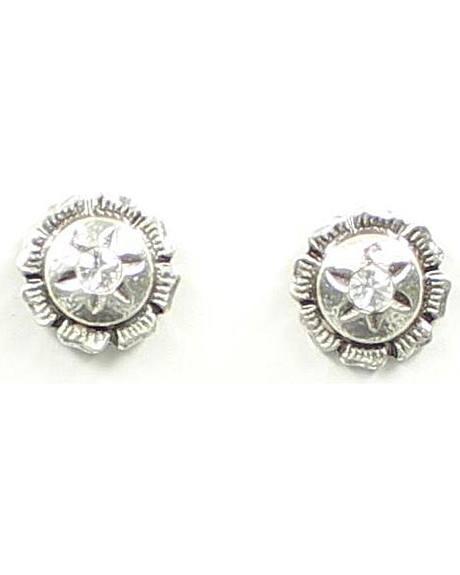 Lightning Ridge Rhinestone Concho Earrings