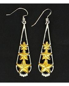 Lightning Ridge Tear Drop with Stars Earrings