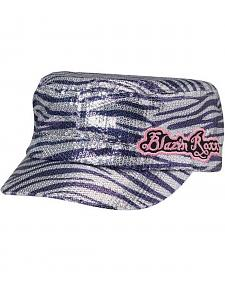 Blazin Roxx Sequin Zebra Print Cap