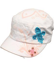 Blazin Roxx Fleur-de-lis Patch Cap