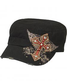 Blazin Roxx Bedecked Cross Patch Cap