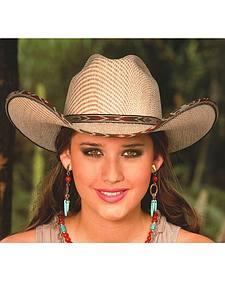 Bullhide Range War 50X Sensu Straw Cowgirl Hat
