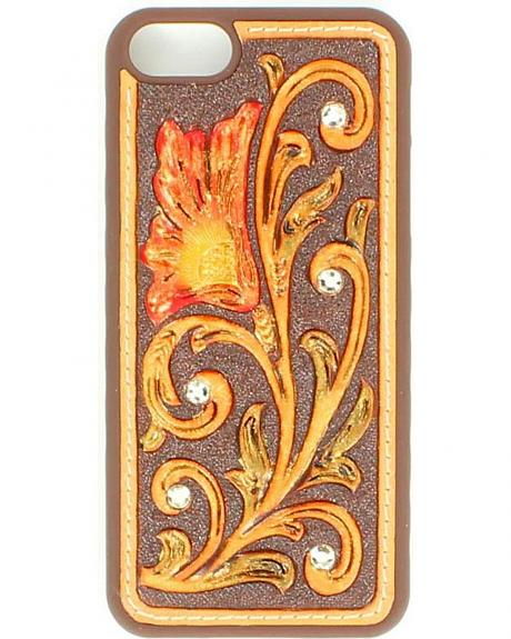 Floral Tooled with Rhinestones iPhone 5 Case
