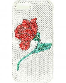 Blazin Roxx Rhinestone Embellished Rose iPhone 5 Case