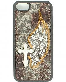 Blazin Roxx Distressed & Embroidered Winged Cross iPhone 5 Case