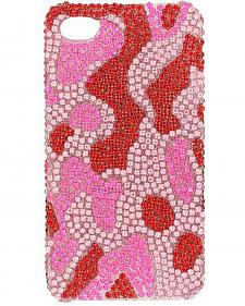Pink Rhinestone Camouflage iPhone 4 Case