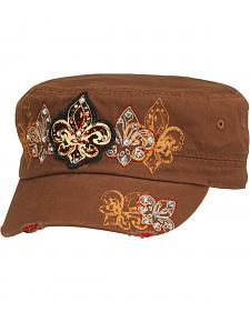 Blazin Roxx Fleur-de-lis Screen Print & Embroidered Cap
